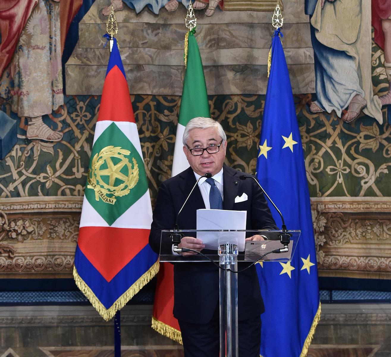 Antonio D'Amato discorso al Quirinale 1 maggio 2019